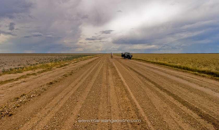 Namibie, route dans le désert Kalahari © Marie-Ange Ostré