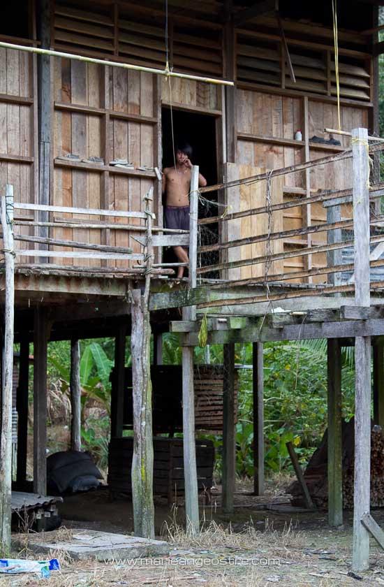 Malaisie, Borneo long house au Sarawak © Marie-Ange Ostré