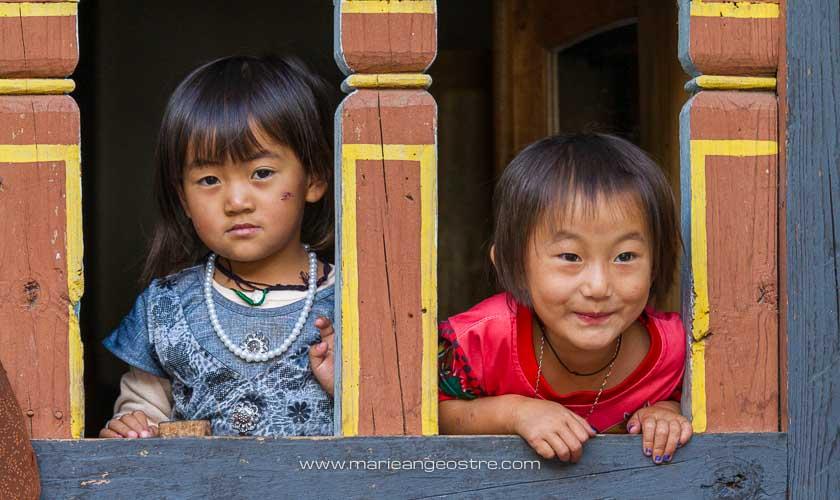 Bhoutan, fillettes © Marie-Ange Ostré
