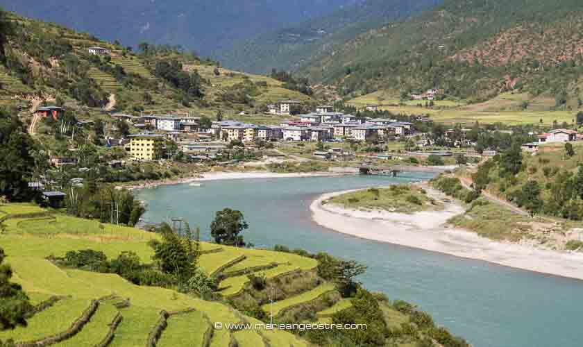 Bhutan, vallée de Punakha ©Marie-Ange Ostré