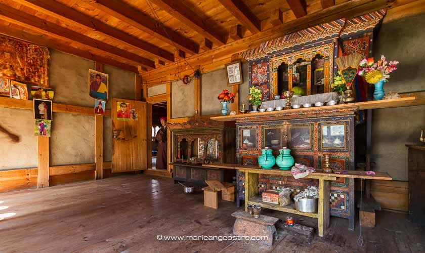 Bhoutan, maison traditionnelle au centre du pays © Marie-Ange Ostré