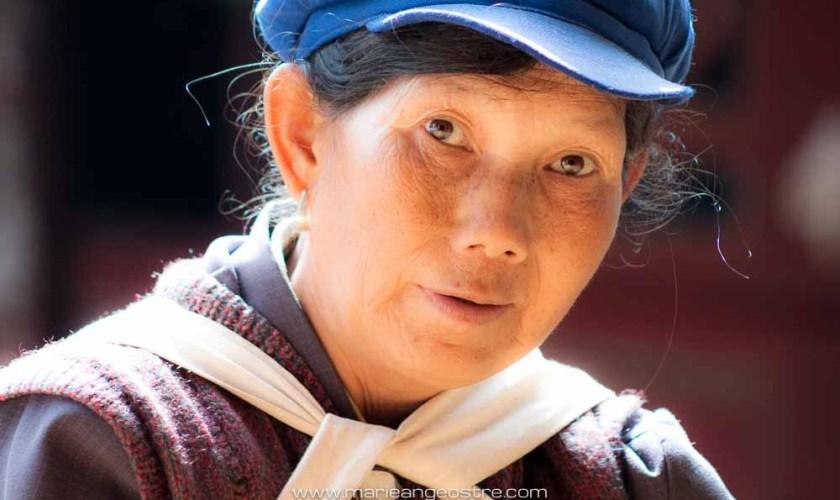 China, Yunnan, Chinese farmer (Yunnan en Chine, fermière) © Marie-Ange Ostré