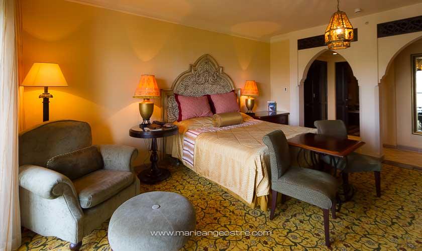 Dubai, chambre au One & Only Royal Mirage Arabian Court © Marie-Ange Ostré
