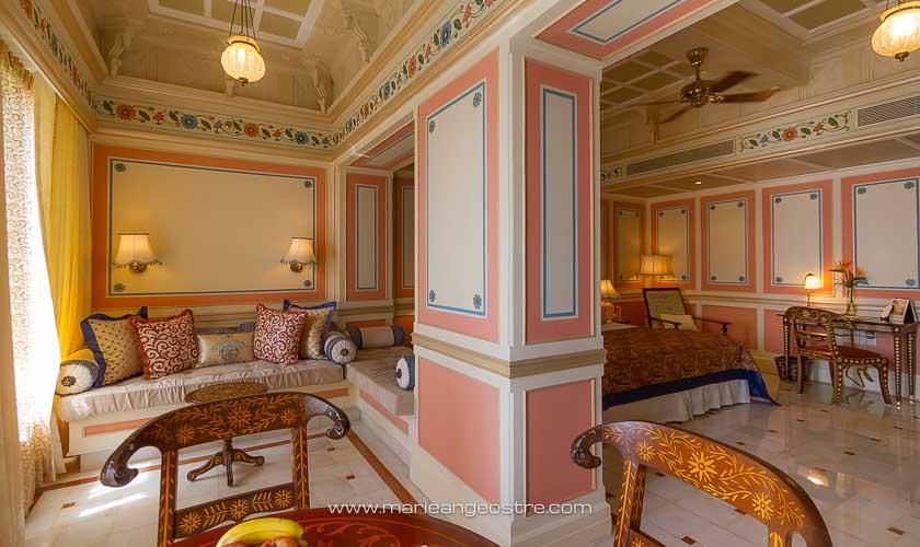 Inde, chambre au Taj Lake Palace à Udaipur © Marie-Ange Ostré
