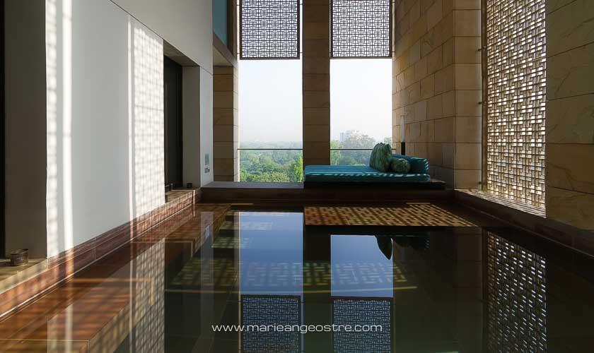 Inde, piscine privée en chambre à l'hôtel The Lodhi à New Delhi © Marie-Ange Ostré