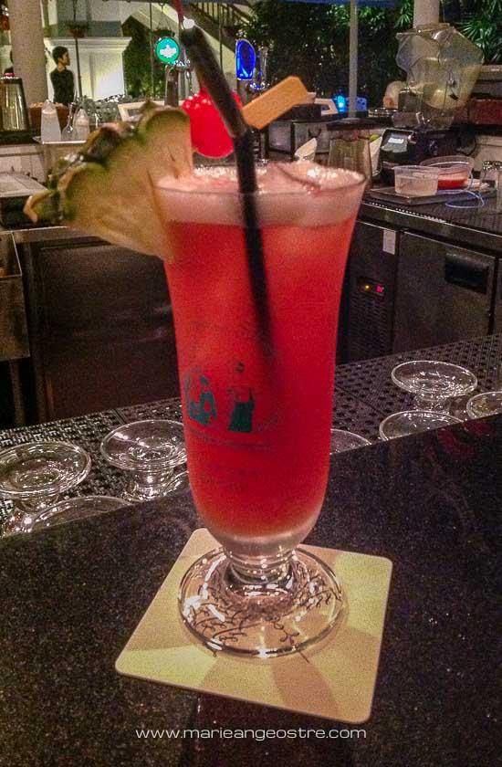 Singapour, recette authentique du Singapore Sling au bar du Raffles © Marie-Ange Ostré