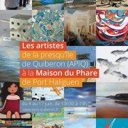 Exposition commune des artistes de l'association APIQ du 4 au 17 juin 2018 à Quiberon, La Maison du Phare