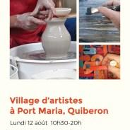 Village d'artistes à Port Maria, Quiberon –  lundi 12 août 2019