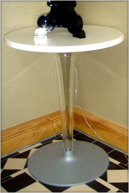 Designer Furniture : Kartell Top Top table in white at Marie Charnley Interiors