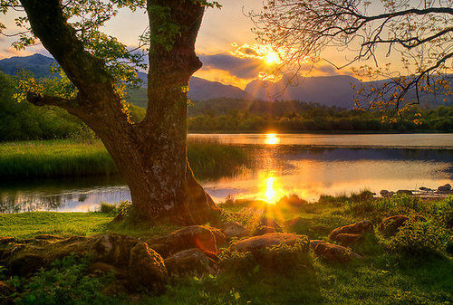 Sunset, Lake District, Cumbria, England