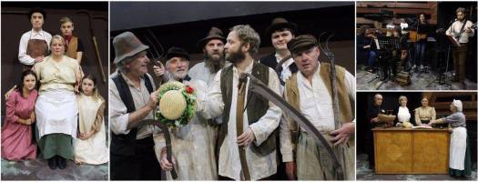 Actors in Lark Rise to Candleford at Sewell Barn Theatre