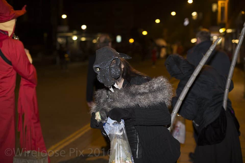 Image taken by Wireloose Pix on Norwich's Halloween Spooky Parade in 2016