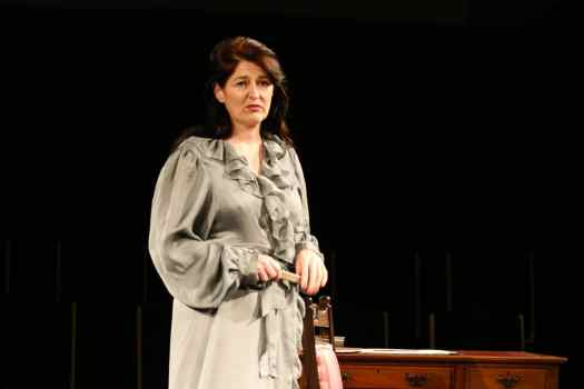 Marie Cooper actor as Anna Mary Conklin in Come into the Garden, Maud filing her nails onstage during Come into the Garden, Maud