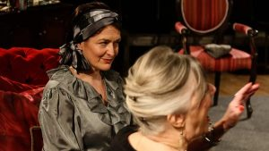 Marie Cooper Actor as Anna Mary becoming increasing irritated at Verner interrupting - Photo onstage during Come into the Garden Maud onstage during Come into the Garden Maud