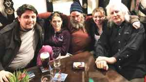 Marie Cooper Actor with the cast of the Hellthy movie taken after filming