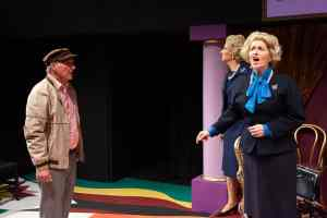 Norwich Actor Marie Cooper portraying Margaret Thatcher