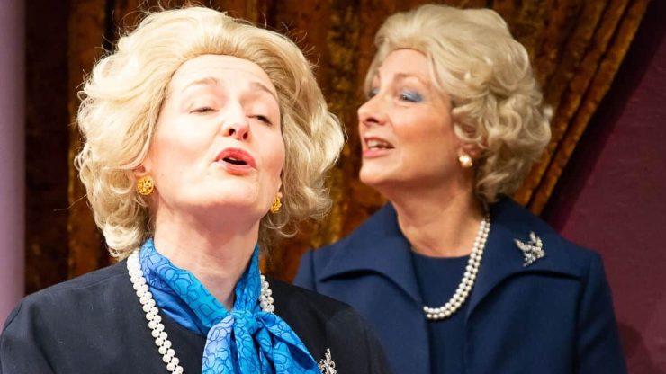 Marie Cooper peforming as Margaret Thatcher