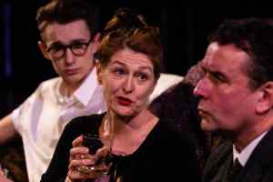 Marie Cooper as Hilda in Someone Waiting drinking with Fenn and Martin