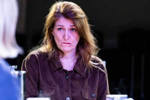 Marie Cooper performing as Ann Wingate in Murder in Neighbourhood Watch. Ann is confused