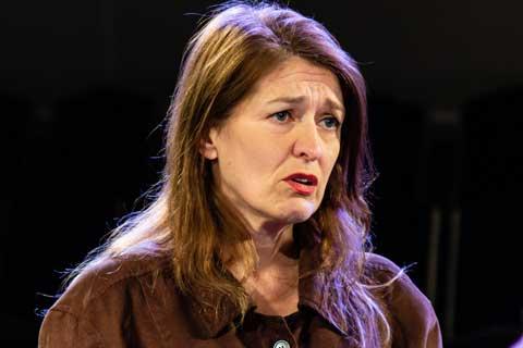 Norfolk actor Marie Cooper playing Ann Wingate in Murder in Neighbourhood Watch. Ann loves her husband