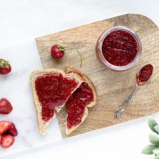 Confiture de fraises au chia