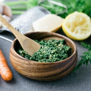 Pesto aux fanes de carottes