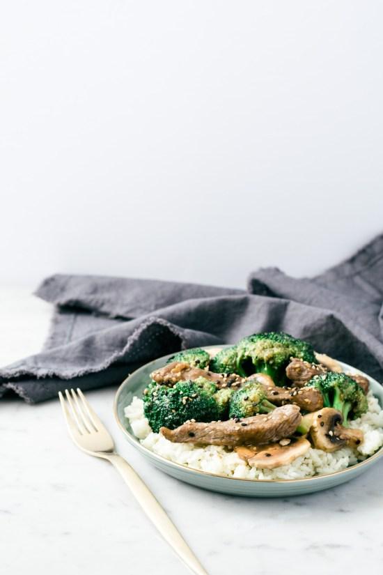 boeuf et brocoli au sésame