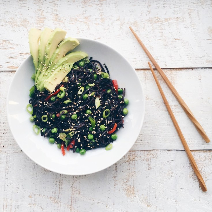 Black Rice Noodles by Marie gourmandise
