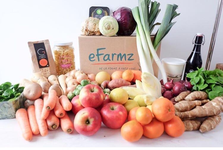 Efarmz, Panier de courses et boxes repas