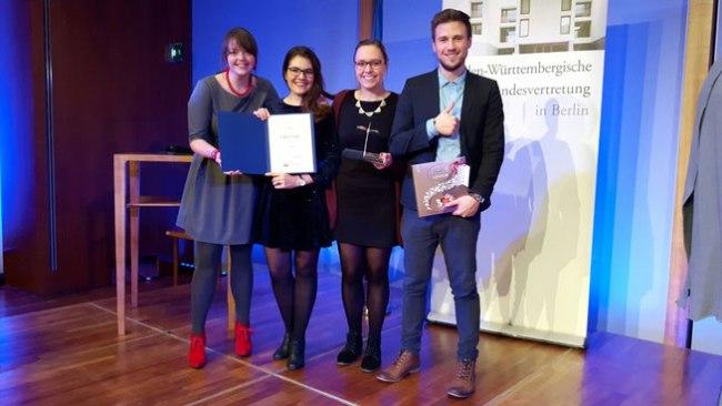 Preisverleihung in der Landesvertretung Baden-Württemberg, Foto: Mustafa Eren