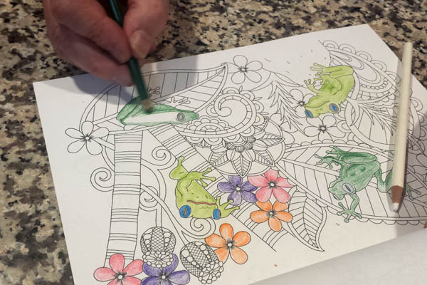 coloring relieves stress