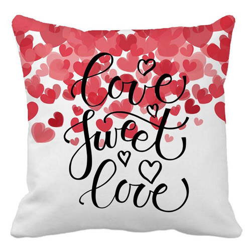 Love Sweet Love Text as Valentine's Day Home Decor Throw Pillow