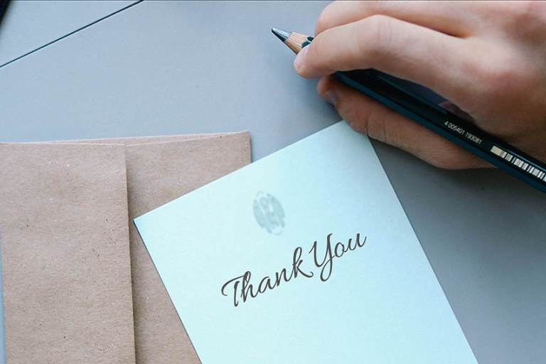 Thank you notes can build goodwill