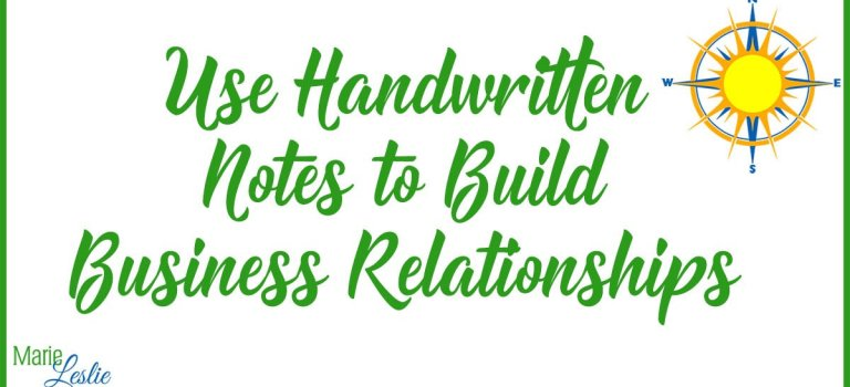Use Handwritten Notes to Build Business Relationships