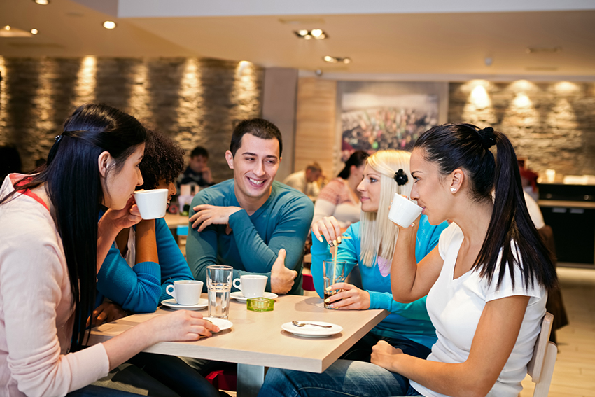 network in small groups to build your confidence