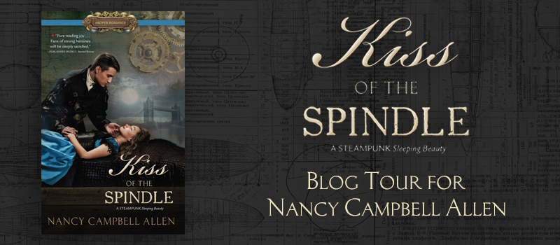 Kiss of the Spindle blog tour image