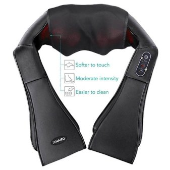 Back and Neck Massager with Heat Deep Kneading Massage