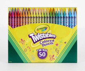 Crayola Twistables Colored Pencils, 50 Count