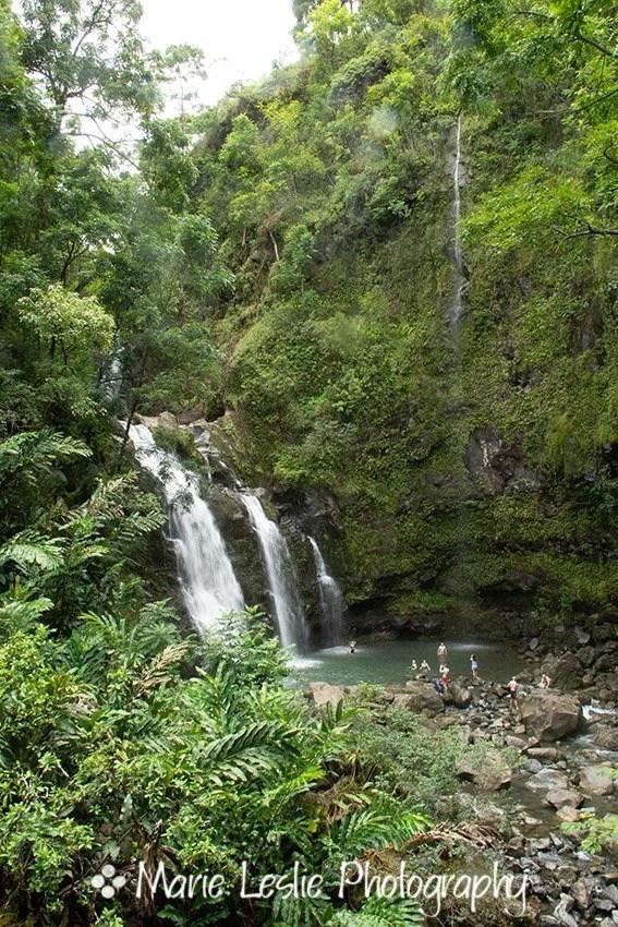 Upper Waikani Falls Vertical