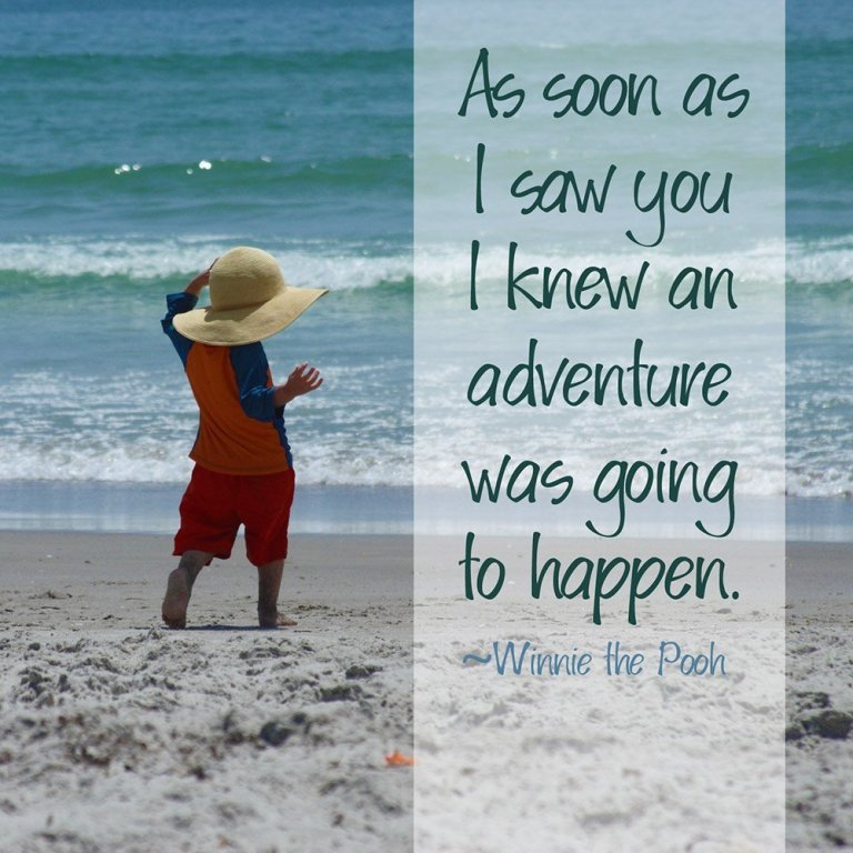 As soon as I saw you, I knew an adventure was going to happen.