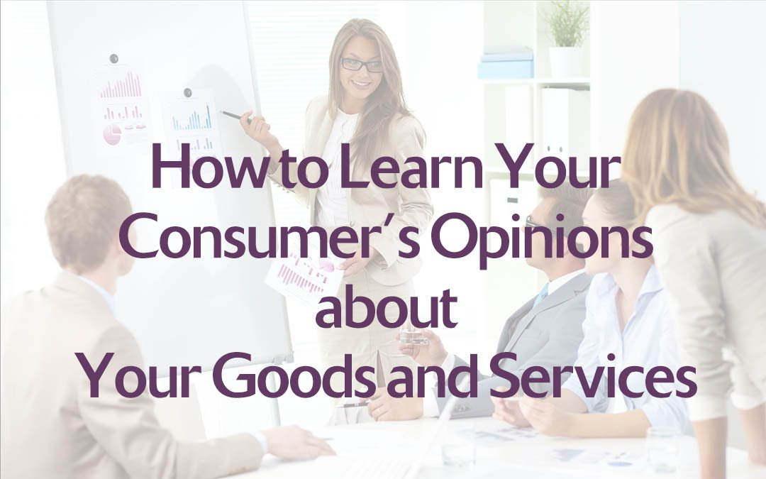 How to Learn Your Consumer's Opinions about Your Goods and Services