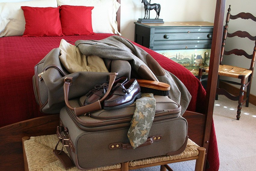 put away travel bags