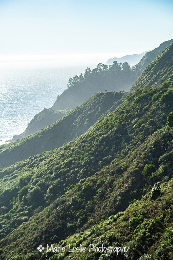 Green Mountains and the Sea