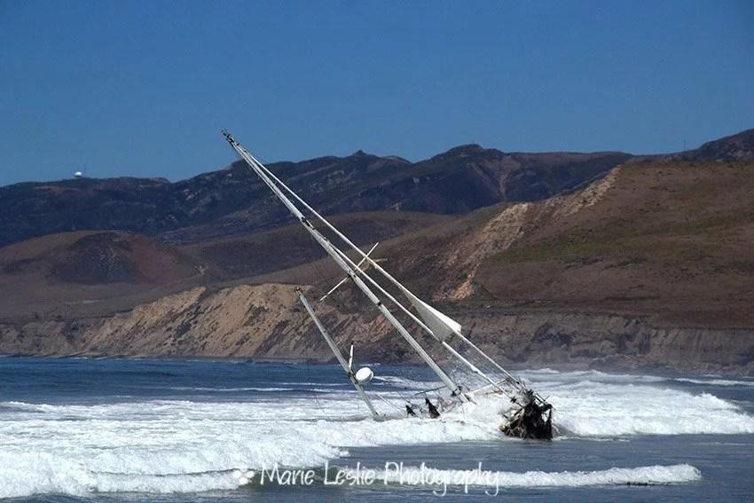 A shipwreck on Jalama Beach California