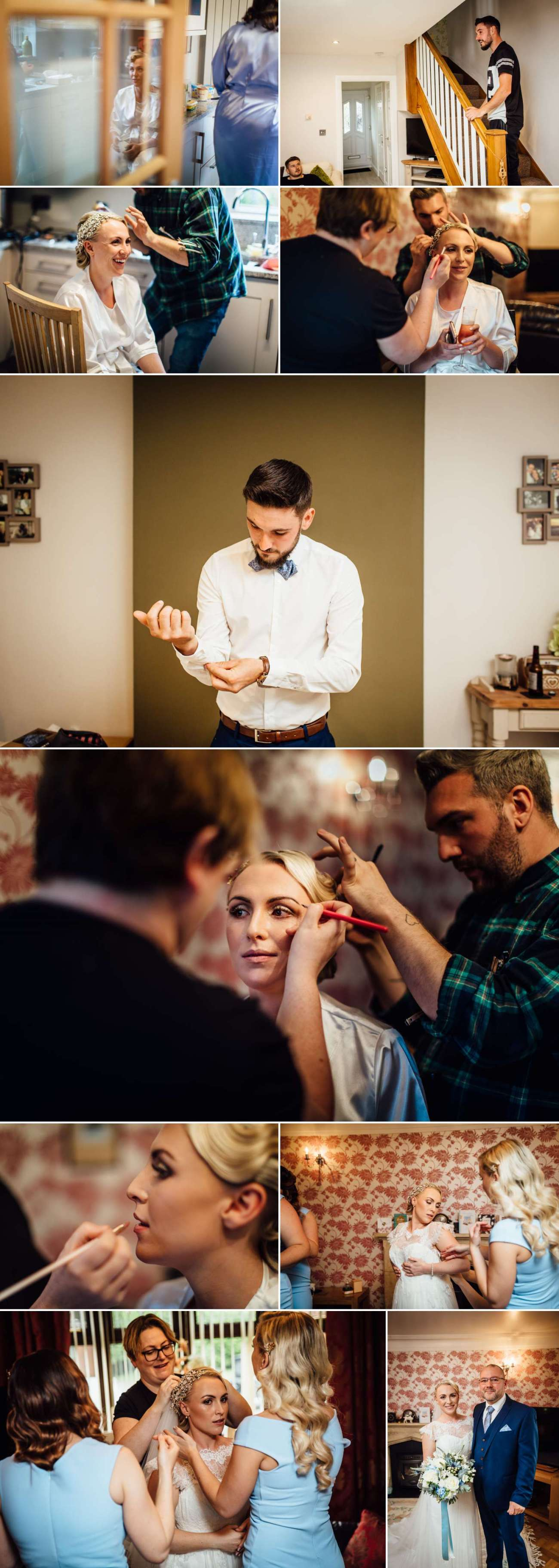 Wedding Photographs of Groom getting ready