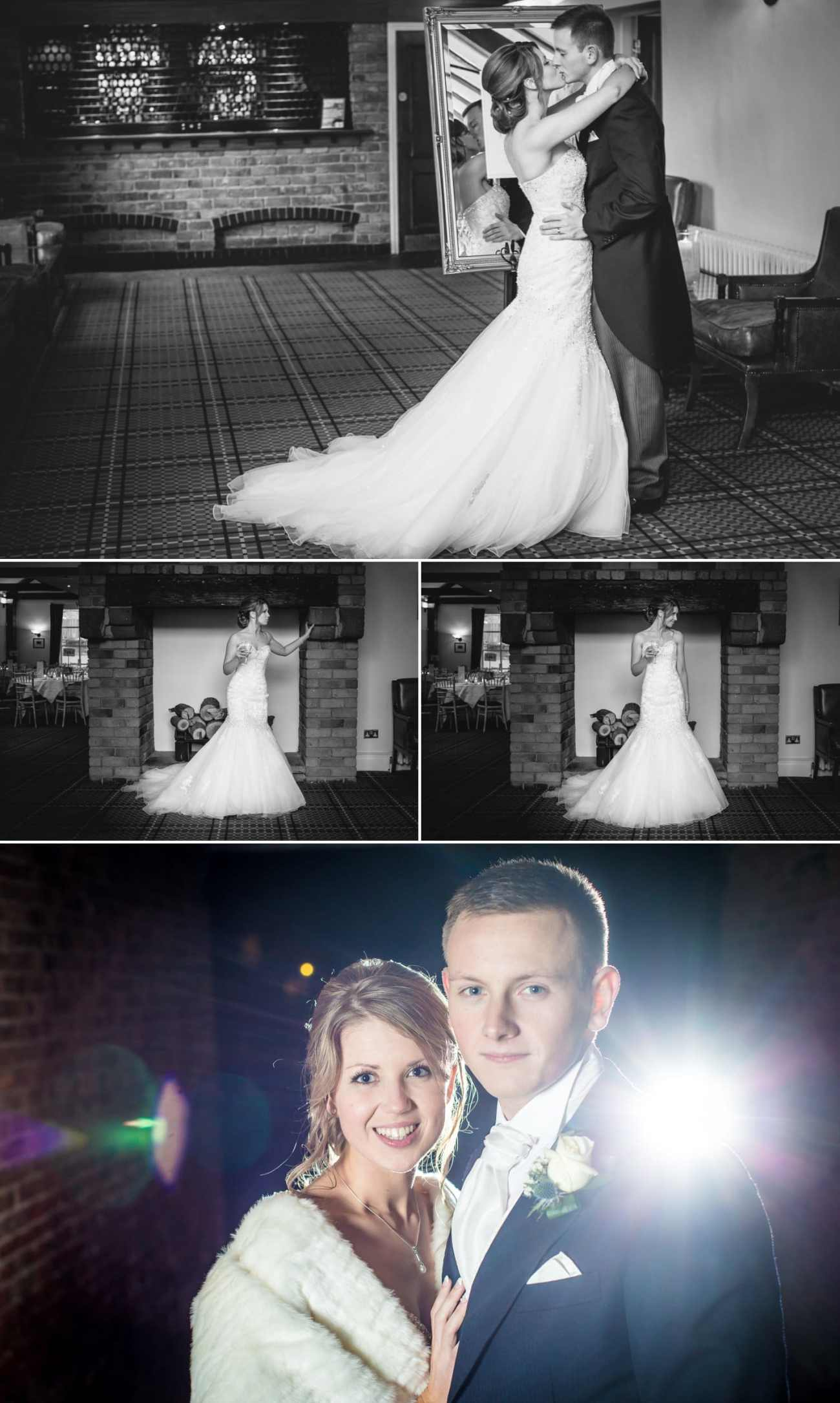 Wedding photography portraits at the reception in Carden Parks shooting lodge, Chester, Cheshire
