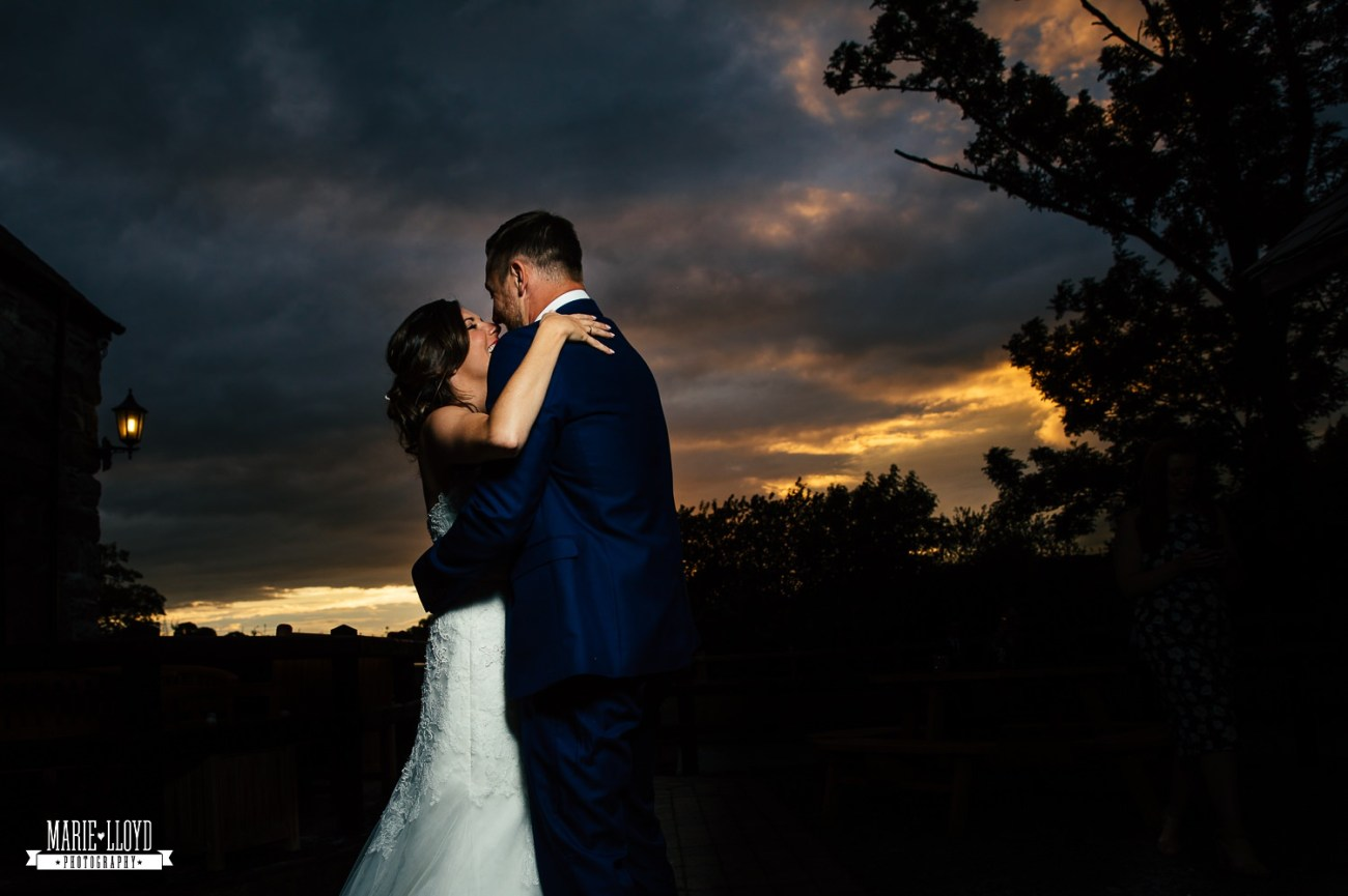 Wedding Photography couple sunset portrait at Plas Isaf, North Wales