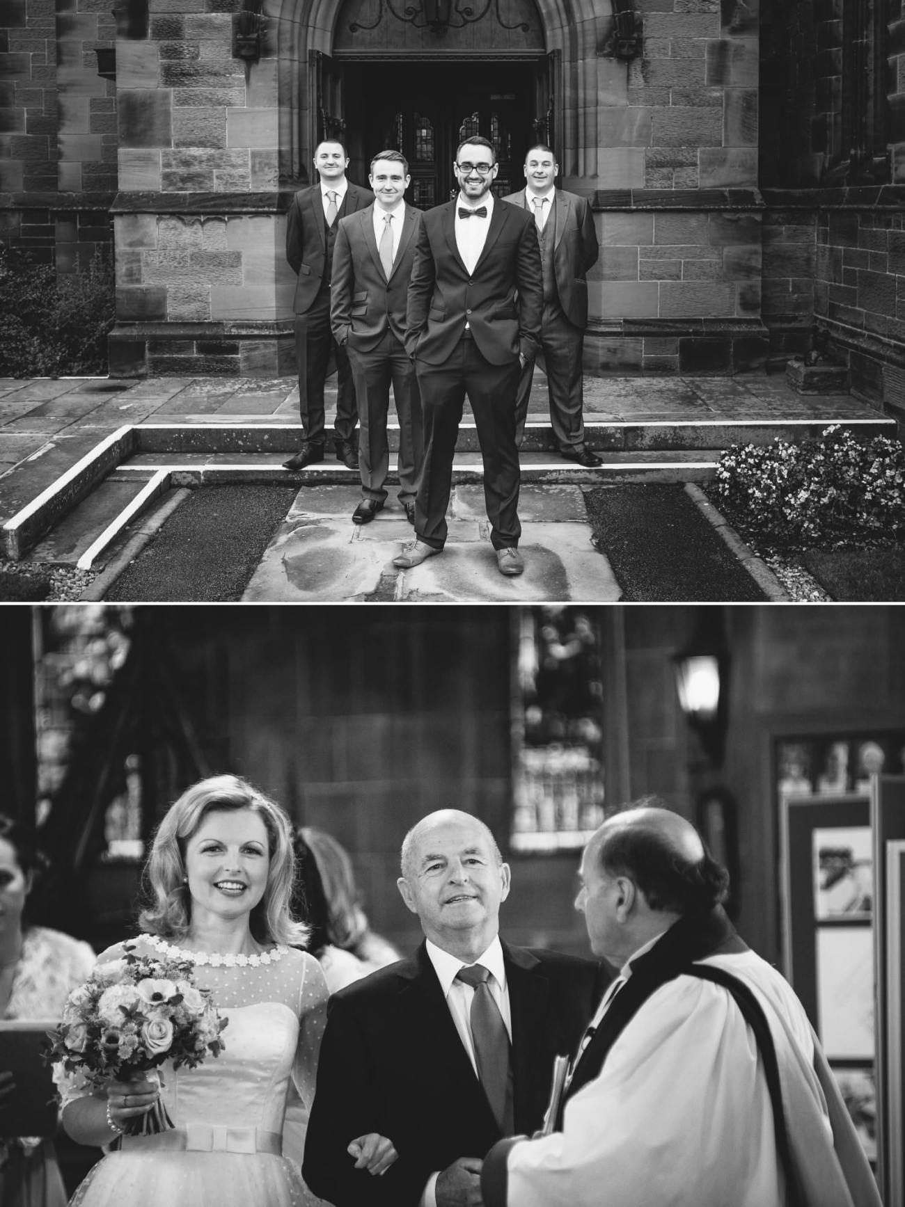 Black and white wedding photography Chester