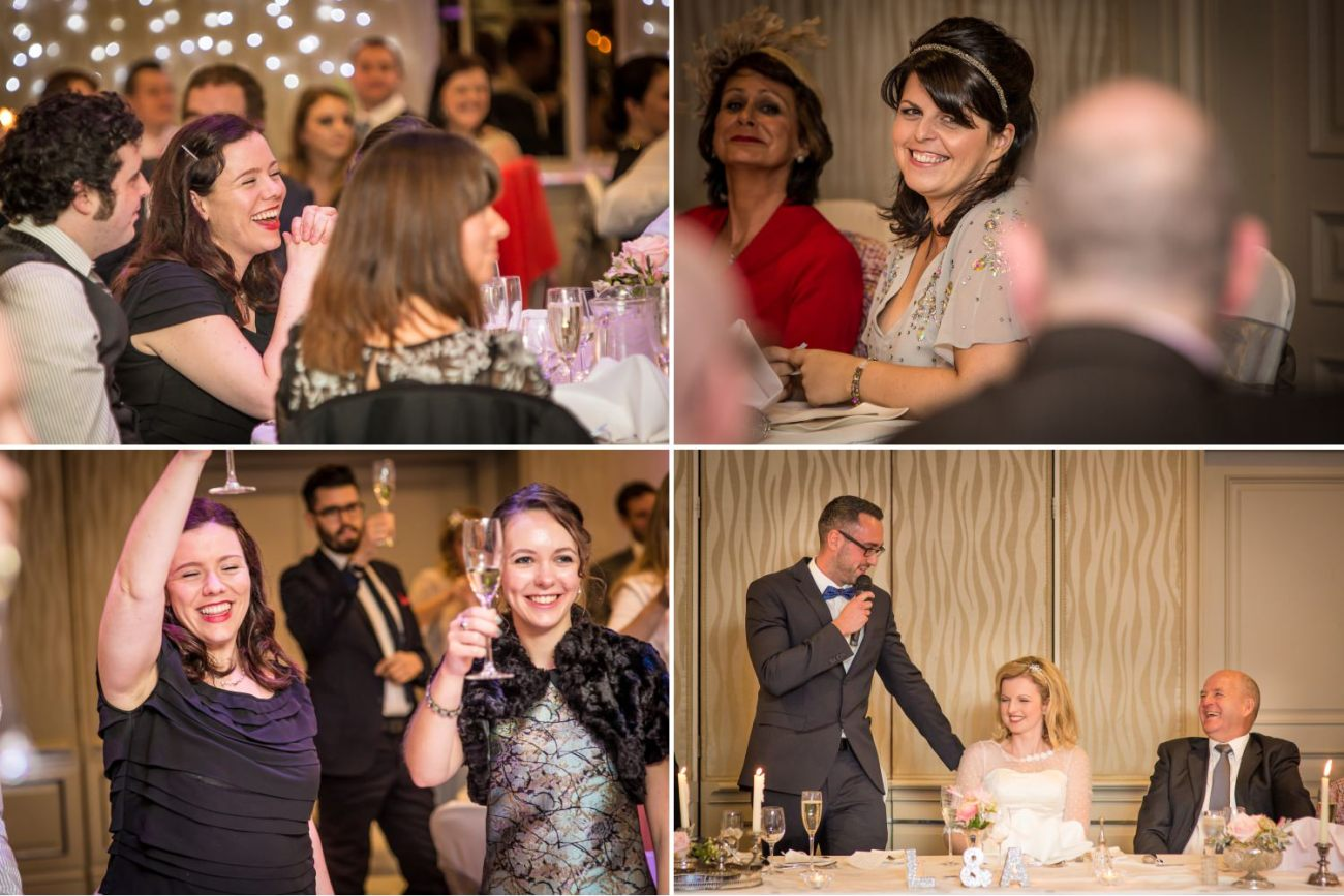 Wedding photography speeches in the grosvenor Pulford Chester