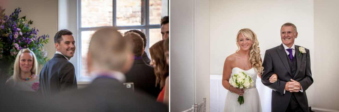 Wedding Photography of bride and groom at wedding in Iscoyd Park